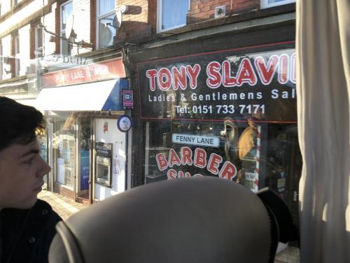 On Penny Lane there is a barber selling photographs.