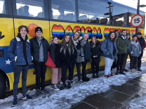 Music Journalism students on the Beatles Tour
