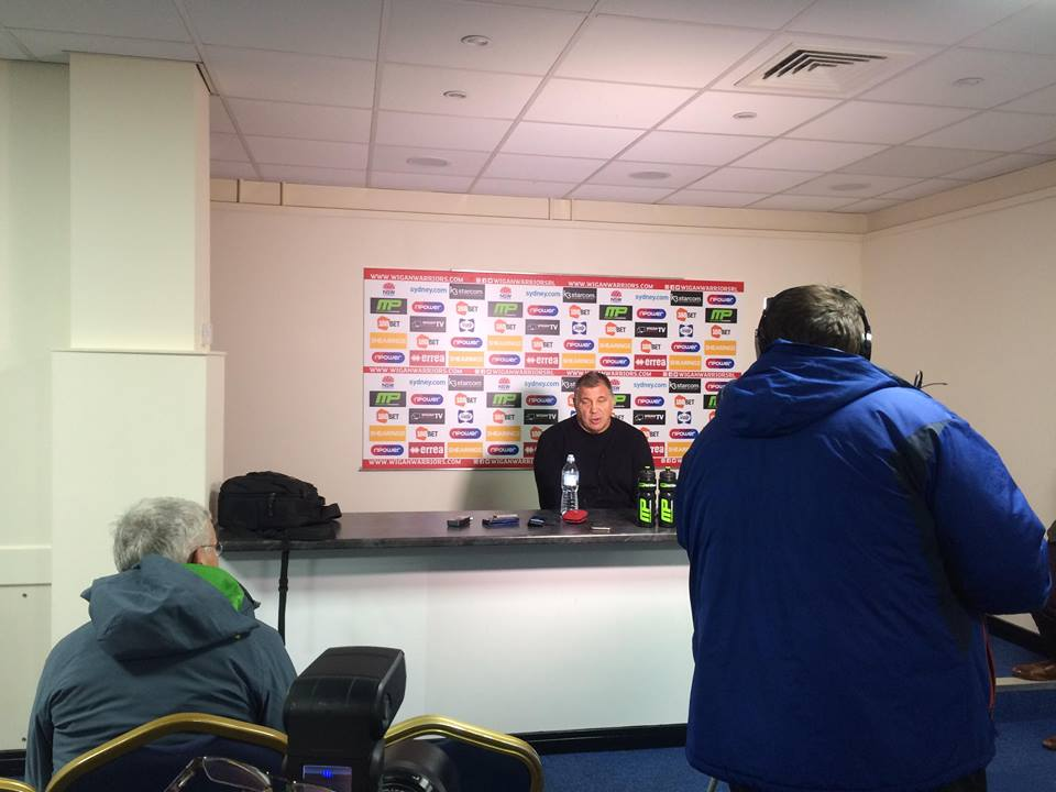 Shaun Wane at press conference