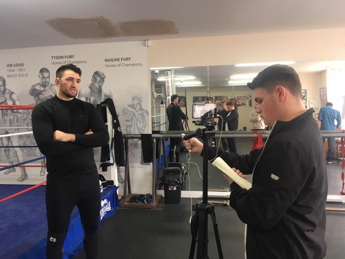 Interviewing Hughie Fury