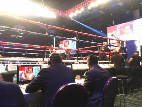 Ringside at Hughie Fury v Sam Sexton